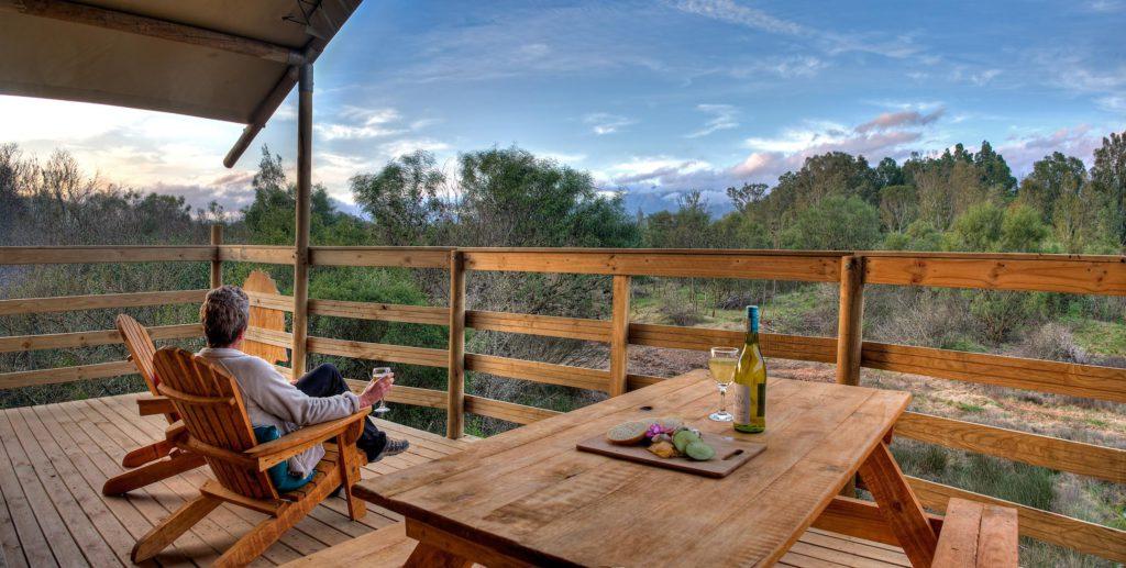 Deck view at Africamps at Kam'bati