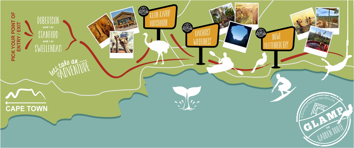 AfriCamps Garden Route Map